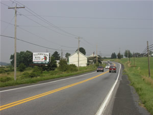 Rt 183 northbound North of Reading Pa 8' x 12' w/lights 1 mile north of Bernville PA, next to Trautman's Plaza