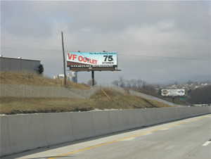 "I-78 westbound Billboards Between Allentown and Harrisburg Pa 10'6"" x 36' bulletin w/lights, between Exit 35 and Exit 30 near Cabela's"