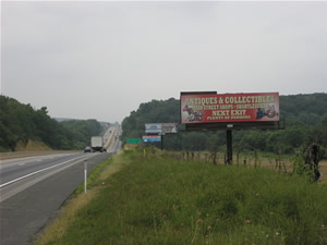 "I-78 westbound Billboards Between Allentown and Harrisburg Pa 10'6"" x 36' bulletin w/lights, just west of  Exit 29, next to Cabela's"