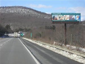 I-81 northbound Billboards Between Harrisburg PA and Scranton PA 14 x 48 bulletin w/lights between Exit 100 and Exit 104, near Pine Grove PA