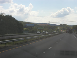 "Rt 15 southbound between Harrisburg and Gettysburg 10'6"" x 36' bulletin w/lights two miles south of Dillsburg, PA"