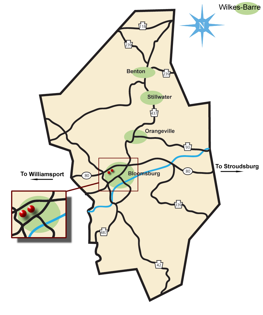 columbia county billboard map